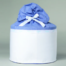 Christening box Felt and Cotton / Κουτί Βάπτισης απο τσόχα και βαμβεκερό ύφασμα